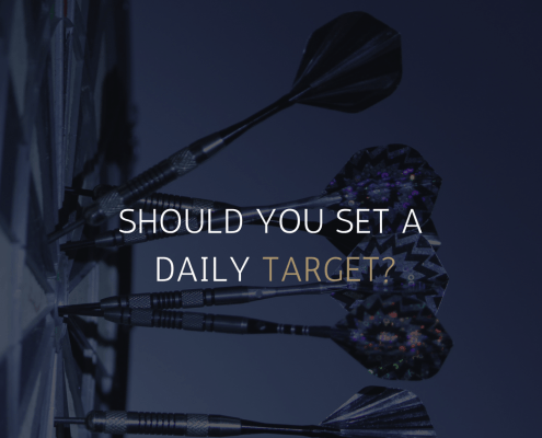 ALPHAEX CAPITAL - SHOULD YOU SET A DAILY TARGET IN 2018