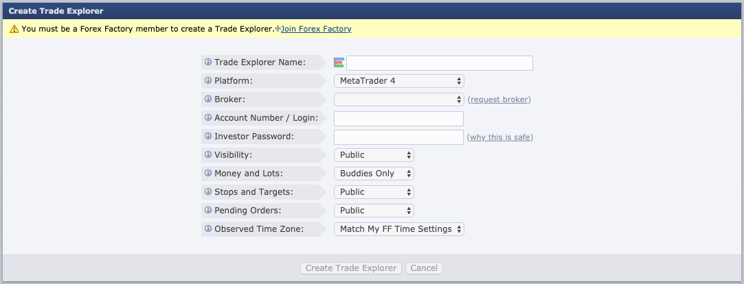 How To Set Up The Forex Factory Trade Explorer