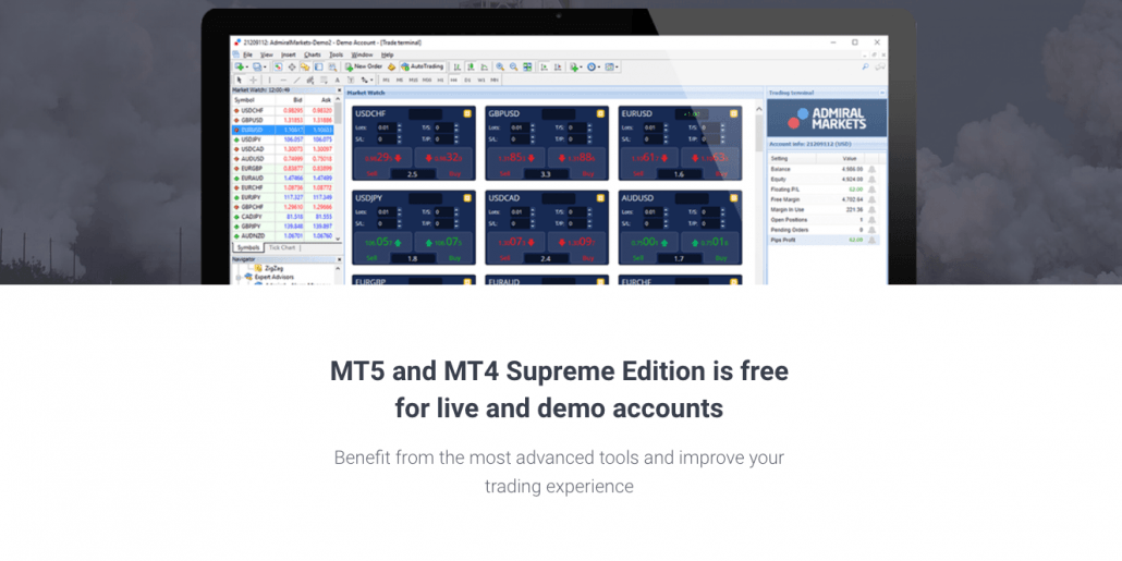Admiral Markets Metatrader Supreme Edition