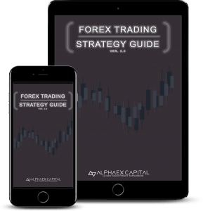 Forex Trading Strategy Guide mockups Dark | Alphaex Capital