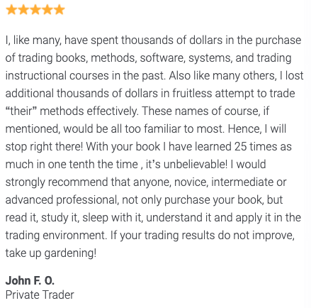 Trading With DiNapoli Levels Book Review 3